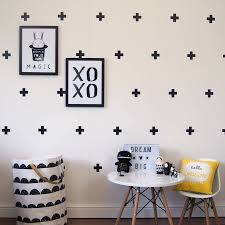 Cross Design Wall Decals Modern Decor Plus Sign Decal Removable Kids Bedroom Living Room Set Of 63 Pcs ZA757 In Stickers From Home
