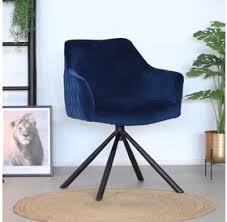 bronx71 esszimmerstuhl samt furtado 180 drehbar blau