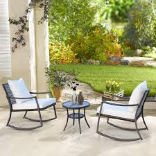 3pcs Garden Rocking Chair Set Outside Rocker Set Cushioned Seat ...
