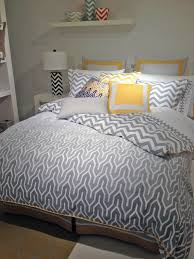 Jill Rosenwald Bedding by Yellow And Grey Chevron Bedding