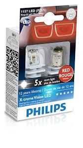 Philips Lamps Cross Reference by Amazon Com Philips 1157 P21 5w Red X Tremevision Led Exterior