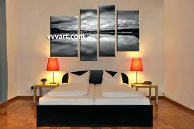 150 Kitchen Wall Decor Canvas Trendy Bedroom 4 Piece Art Mountain Landscape Daccor