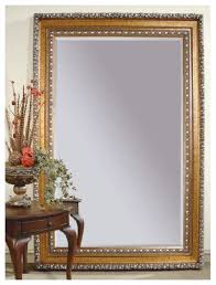 Leaning Floor Mirror In Gold Silver Leaf Frame Traditional Mirrors