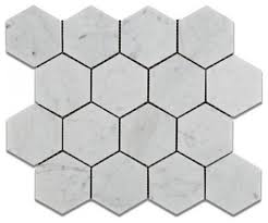 carrara white hexagon 3 marble mosaic tile honed marble from