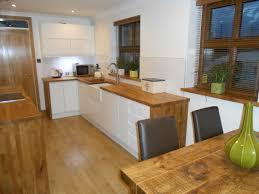 Best Floor For Kitchen Diner by White Gloss Kitchen Oak Worktop Google Search Cream U0026 Wood