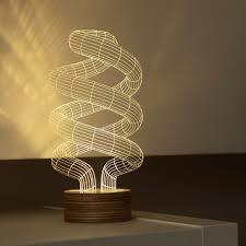 Lumio Book Lamp Walnut by Spiral Bulbing Lamp Moma Design Store