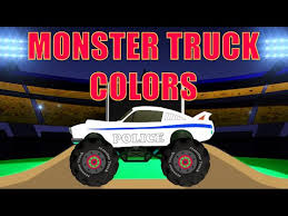 100 Truck Colors Monster Stunts Learn COLORS Video Dailymotion
