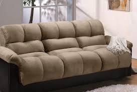 Klik Klak Sofa Bed by Futon White Click Clack Faux Leather Futon Sofa Bed All Over