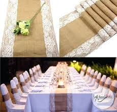 Rustic Party Decorations Bulk Save Hessian Lace Table Runner Burlap Wedding Themed