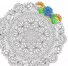 Hidden Birds Fantasy Forest Mandala Printable Adult Coloring Page By Candy Hippie Candyhippie