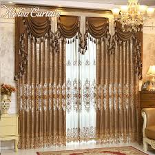helen curtain luxury gold embroidered curtains for living room