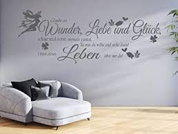 tjapalo gr pk132a wandtattoo wohnzimmer wandtatoo spruch glaube an wunder liebe glück flur wandspruch b150 x h51 cm