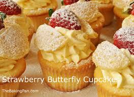 Strawberry Butterfly Cupcakes Recipe