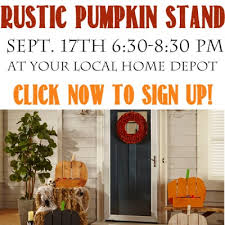 Rustic Pumpkin Stand Sign Up For This Fun Fall Home Depot DIH Workshop