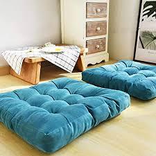 seat cushion solide quadratische boden kissen getuftet verdicken sie cord stuhl pads für büro meditation balkon tatami bodenkissen blau