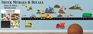 Truck Wall Decals & Construction Murals -Boys Room Theme Decor Ideas Cars Wall Decals Best Vinyl Decal Monster Truck Garage Decor Cstruction For Boys Fire Truck Wall Decal Department Art Custom Sticker Dump Xxl Nursery Kids Rooms Boy Room Fire Xl Trucks Stickers Elitflat Plane Car Etsy Murals Theme Ideas Racing Art