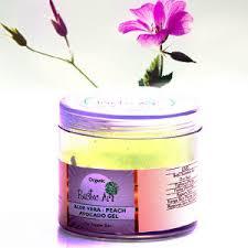 Organic Aloe Vera Peach Avocado Gel Rustic Art Chemical Free Dry Skin Tightens Pores Anti