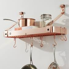 Enclume Copper Bookshelf Pot Rack