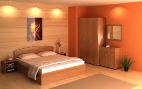 schlafzimmer orange muster garajes fresko wands
