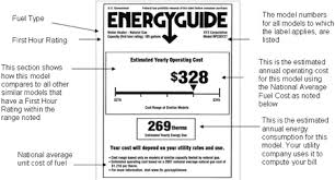 Yellow Energy Guide Label