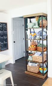 I Kept Fall Decor In The Kitchen Pretty Simple And Focused Mainly On Adding Some Autumnal Touches To Etagere Display Shelf