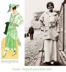 Coco Chanel 1916 Fashion Dropped Waist Dress