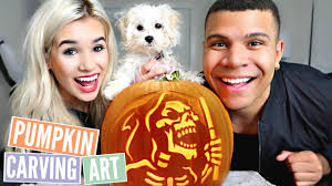 Funny Pumpkin Carvings Youtube by Pumpkin Carving Challenge Youtube