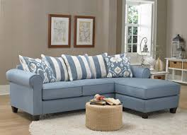 347710 sofa chaise in light blue fabric by chelsea