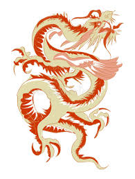 Download Red Tribal Chinese Dragon Tattoo Vector Illustration Stock