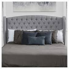Roma Tufted Wingback Bed by Alberta Tufted Wingback Headboard King California King Silver