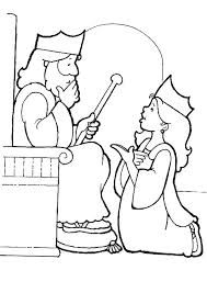 King Choose Esther To Be His Queen Coloring Page