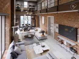 100 Loft Style Apartment Large Modern Loftstyle Apartment With Sofas Armchair Fireplace
