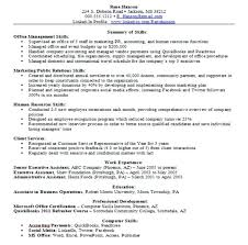 Examples Of Key Skills In Resume Based Template Word Amazing Example A On