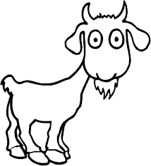 Goats With Skinny Body Coloring Pages For Kids Printable