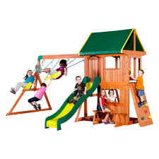 Playsets & Swing Sets - Parks, Playsets & Playhouses - The Home Depot Best Backyard Swing Sets Backyard Swings For Great Times With Kids Garden House 1swing How To Choose A Wooden Play Set The Doll Hospital Toy Playsets Swing Sets Parks Playhouses Home Depot Fxible Flyer Park Metal Walmartcom Srtspower Jump N Shop Your Way Trek Discovery Backyards Outstanding Big Simple Bring The City Park Your With This Play Set Featuring 25 Unique Ideas On Pinterest Outdoor Modern Decoration Adorable Playground Secret Tips Create Perfect