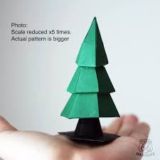 Christmas Tree Papercraft Paper Happy New Year Papertoy Home