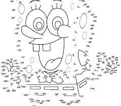 Dot To Printouts Spongebob Free Printable Coloring Pages Draw