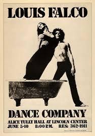 1975 Louis Falco Modern Dance Leora Sies Poster Print