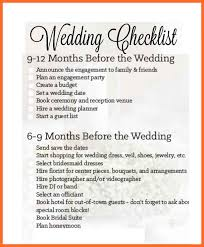 Simple Wedding Checklist Sample