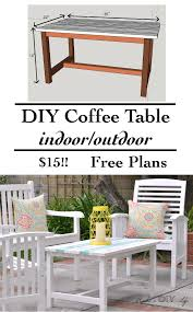 Plans For Yard Furniture by Easy 15 Diy Outdoor Coffee Table Free Plans Anika U0027s Diy Life