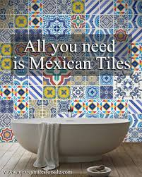 mexican tiles handmade and painted san diego california
