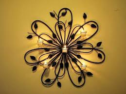 Wall Decor Candles Handmade Iron Candle Art Leaf Decorations