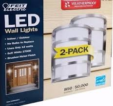feit electric led weatherproof indoor outdoor wall lights 850