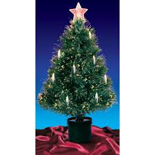 Pre Lit Multi Lights Fiber Optic Artificial Christmas Tree With Candles