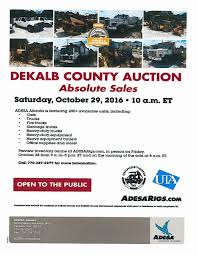 100 Adesa Truck Auction ONEDeKalb On Twitter DeKalb County On Saturday October 29