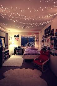 Fairy Light Bedroom Romantic Decorating Ideas With Classic Wooden Twin Bed And Charming Lights