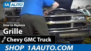 100 A1 Truck And Auto How To Replace Grille 9299 Chevy Suburban YouTube