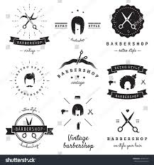 Barber Shop Hair Design Ideas by Barbershop Hair Salon Logo Vintage Vector Stock Vector 245621317