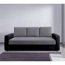 canap bicolore canapé bi matière microfibre simili et bicolore tao gris noir3