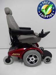 pride mobility jazzy select 14 power chair used wheelchairs red